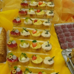 runde Canapes Treppe