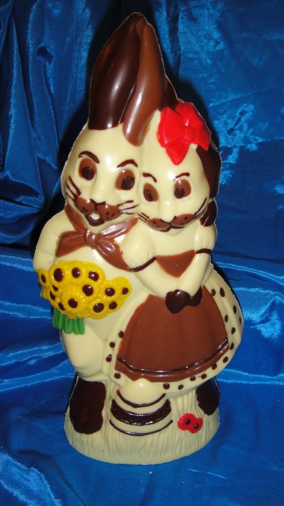 Liebespaar mit weisser Schokolade