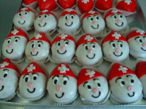 Schweizer Eier-Cupcakes