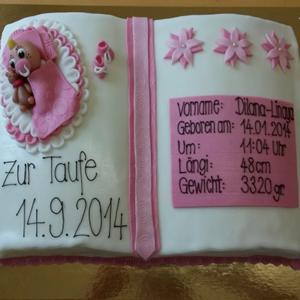 Tauf-Torte Mädchen