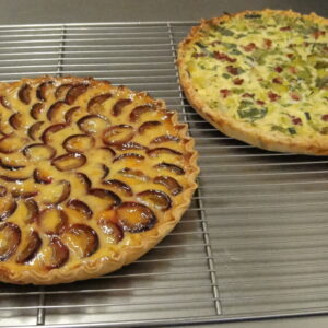 Zwetschgen & Quiche Lorraine Kuchen