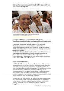 Olympiade Erfurt - Artikel Aargauer Zeitung