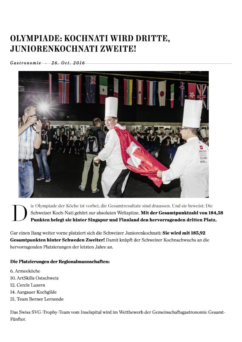 Olympiade - Hotellerie Gastronomie Zeitung