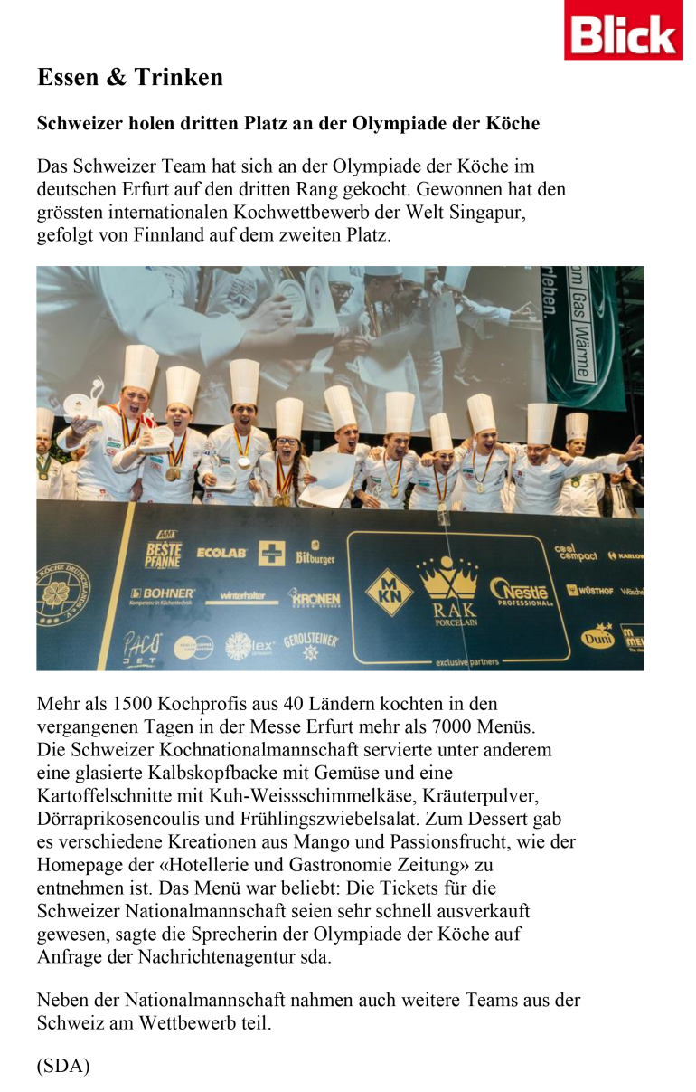 Olympia-Artikel blick.ch